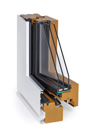 integral frame composite window