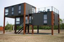 Danish House on Stilts Scandinavian Windows