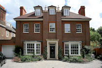 Traditional British House with Sliding Sash Windows