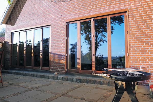 Bifold Doors Natural Wood Finish