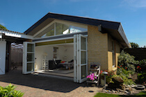 6 Leaf Bifold Door Open