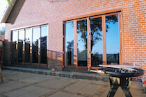 Natural Wood Bifold Door