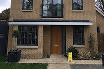 Anthracite Grey Windows and Oak Door