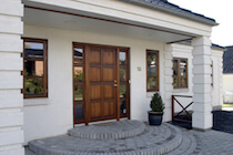 Danish Oak Windows in White Render