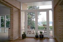 White Scandinavian Terraced Doors