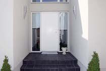 White Solid Timber Door