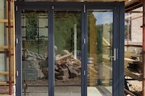 Grey Timber Bifold Door