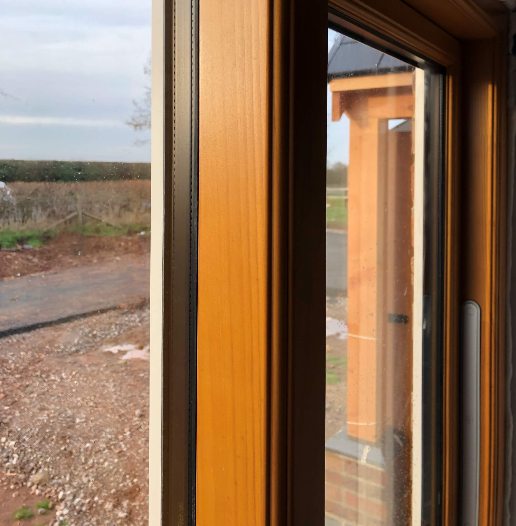 Natural Timber Stain Window