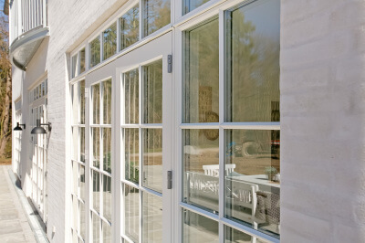 Rationel Forma, French patio doors in white