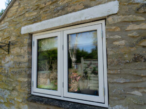 Double Side hung composite aluminium timber window